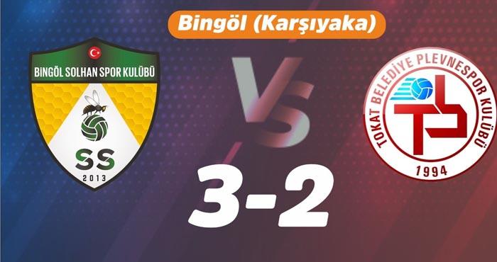 Solhanspor Tokat Belediyespor'u 3-2 yendi