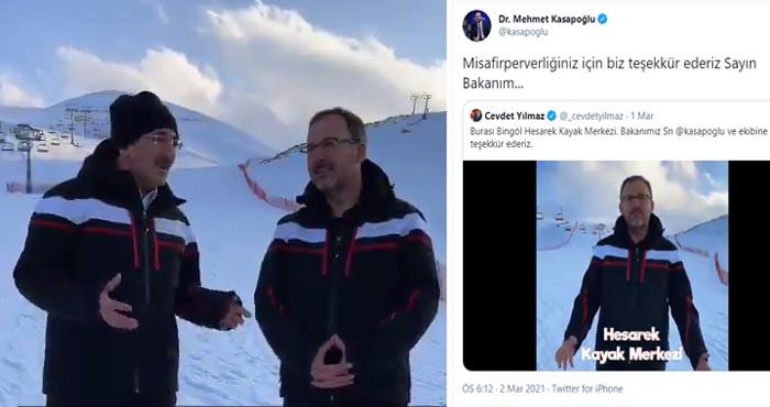 Yılmaz'dan Hesarek Kayak Merkezi tanıtım videosu