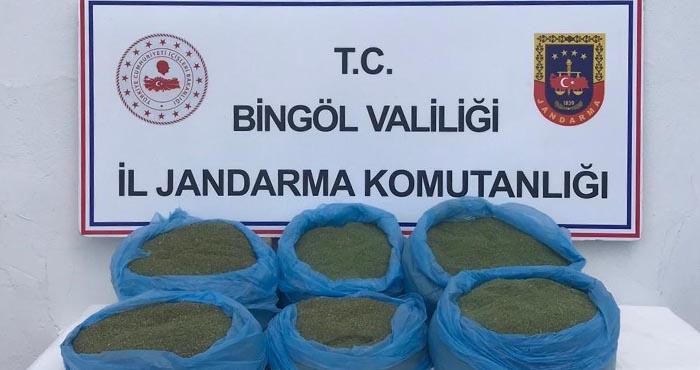 Bingöl'de 58 kilogram esrar ele geçirildi