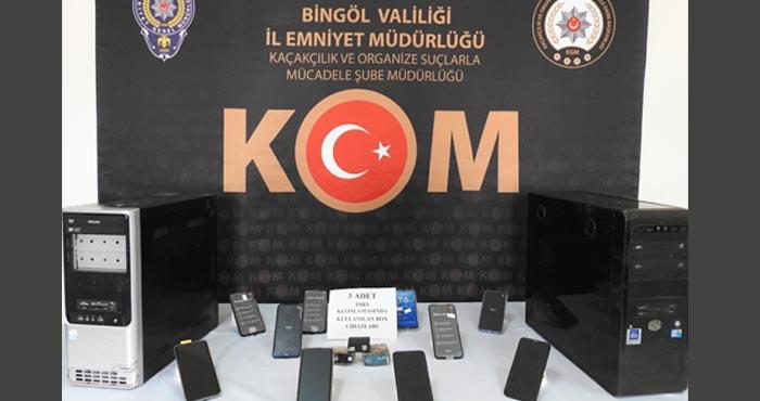 Bingöl'de gümrük kaçağı cep telefonu operasyonu