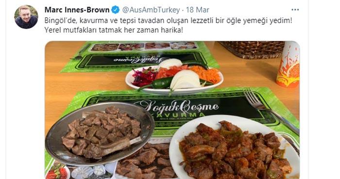Büyükelçi Brown'dan Bingöl yemeklerine övgü