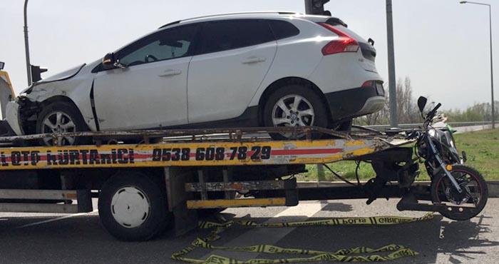 Aftor'da otomobil ile motosiklet çarpıştı: 1 ölü