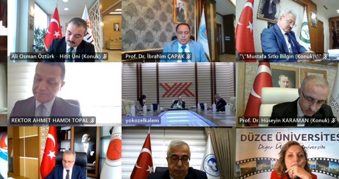 Rektör Çapak, video konferansla YÖK toplantısına katıldı