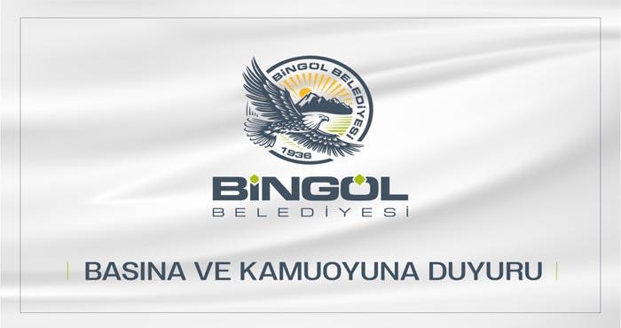 Bingöl Belediyesi açıkladı: