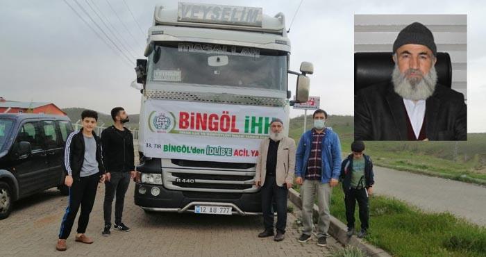 Bingöl'den Suriye'ye 33. insani yardım tırı