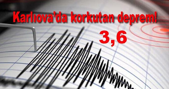 Bingöl Karlıova'da 3,6 büyüklüğünde deprem