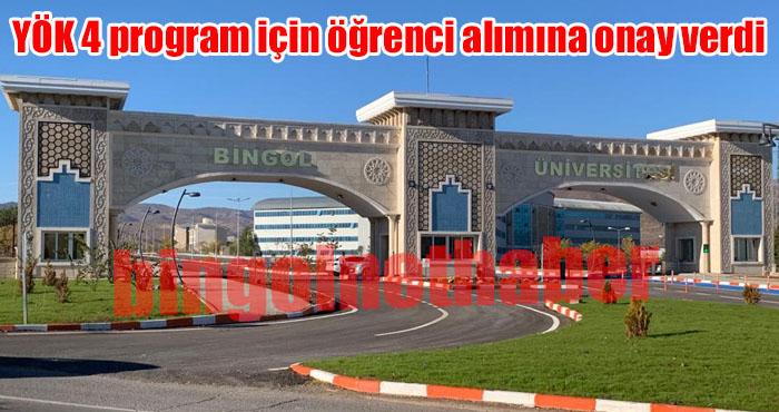 Bingöl Üniversitesi 4 yeni programa öğrenci alacak