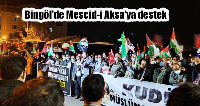 Bingöl'de Filistin'e destek konvoyu