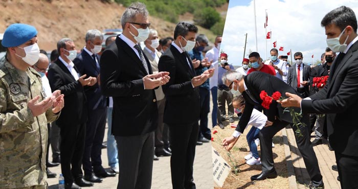 Şehit 33 asker törenle anıldı