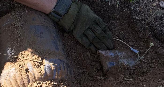 Yayladere kırsalında el yapımı patlayıcı ele geçirildi
