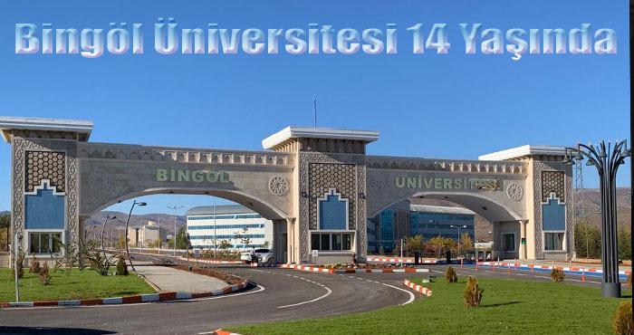 Bingöl Üniversitesi 14 yaşında
