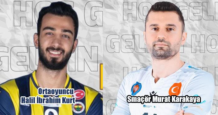Voleybolda transfer! Murat Karakaya ile Halil İbrahim Kurt Solhanspor'da