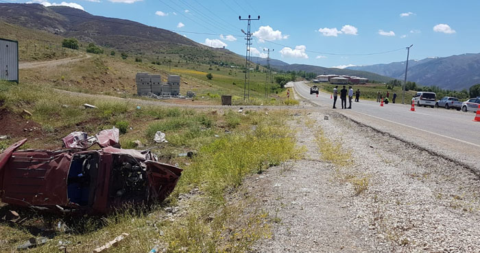 Yedisu'da trafik kazası: 4 yaralı