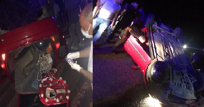 Bingöl'de otomobil devrildi: 2 yaralı