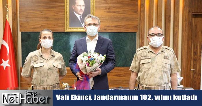 Jandarma 182 yaşında! Vali Ekinci Jandarma heyetini kabul etti