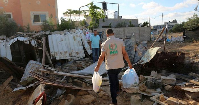 Bingöl İHH'dan Filistin'e gıda yardımı