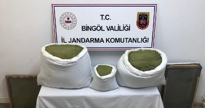 Bingöl'de uyuşturucu operasyonu! 101 kilogram esrar ele geçirildi