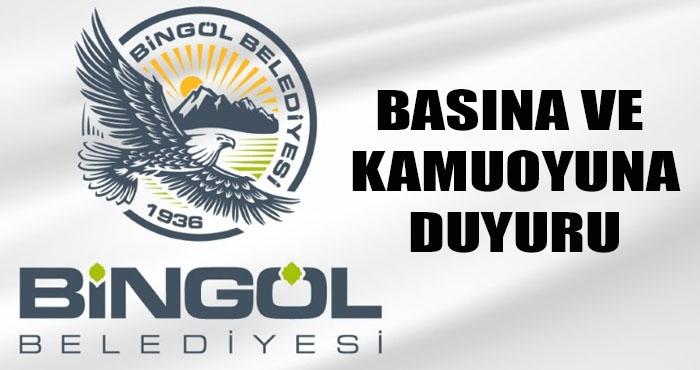 Bingöl Belediyesi'nden