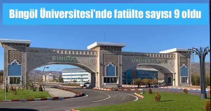 Bingöl Üniversitesi bünyesinde Spor Bilimleri Fakültesi kuruldu