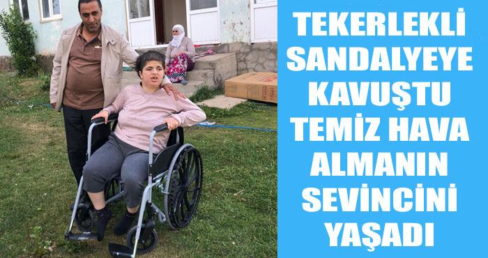 Karlıova'lı özel Esra'nın tekerlekli sandalye sevinci