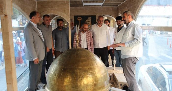 HÜDA PAR'dan Bingöl'de sergilenen Minia Kudüs tırına ziyaret