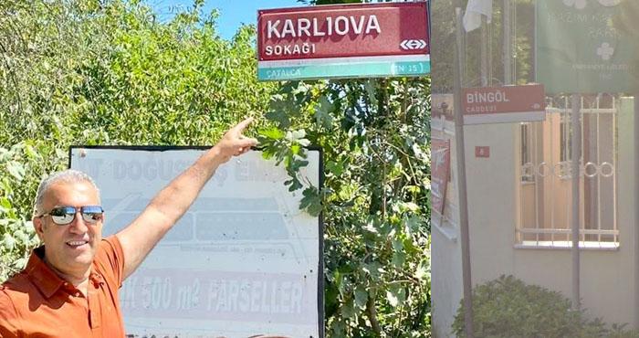 İstanbul'da Bingöl ve Karlıova adını taşıyan sokaklar