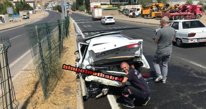 Düzağaç'ta taksi ile otomobil çarpıştı: 4 yaralı