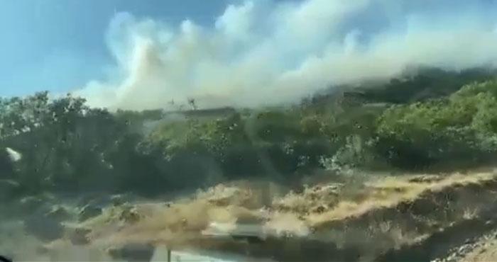 Yayladere orman yangını! Söndürme çalışmaları sürüyor