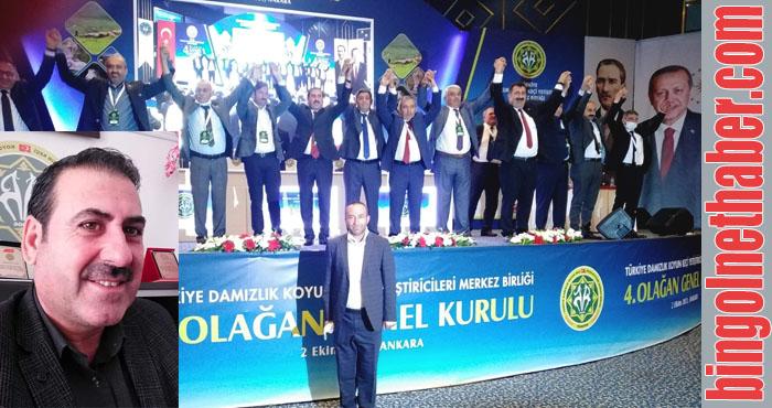 Bingöl DKKYB Başkanı Kaysadu, TÜDKİYEB yönetim kurulunda