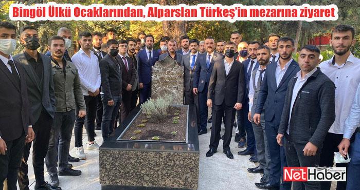 Bingöl Ülkü Ocaklarından, Alparslan Türkeş'in mezarına ziyaret