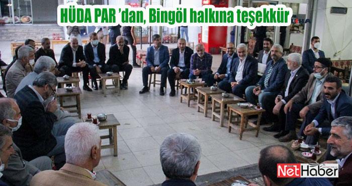 HÜDA PAR Bingöl İl Başkanı Alpaya'dan, Bingöl halkına teşekkür