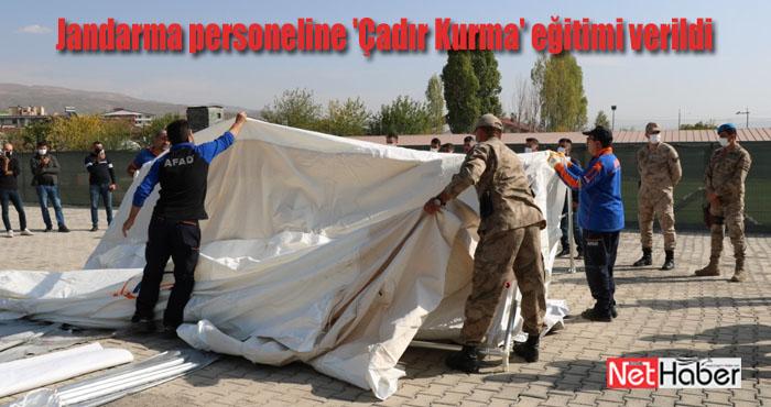 Jandarma personeline 'Çadır Kurma' eğitimi verildi