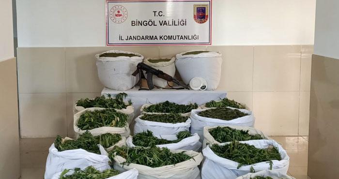 Jandarmadan zehir tacirlerine operasyon: 267 kilogram esrar ele geçirildi
