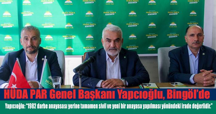 HÜDA PAR Genel Başkanı Yapıcıoğlu, Bingöl'de gazetecilerle bir araya geldi