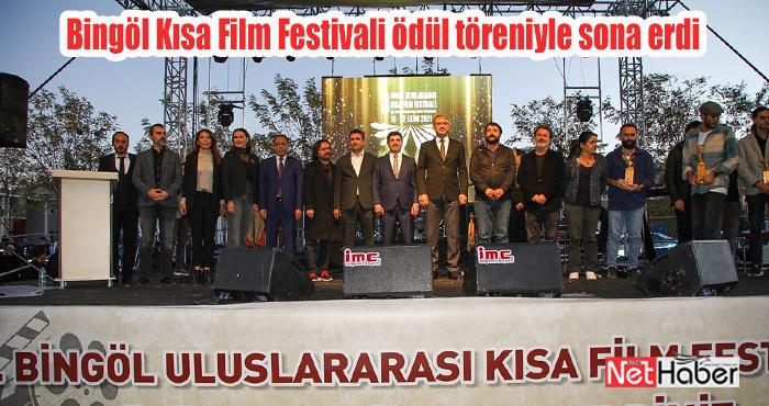 Bingöl Kısa Film Festivali ödül töreni